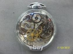Hamilton Military GCT 4992B 22 jewel Navigational Pocket Watch WWII Clear Back
