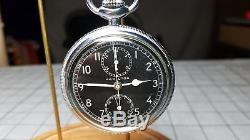 Hamilton Model 23 Chronograph AN5742-1 WWII Navigator Watch Bomber Adj Temp 3Pos