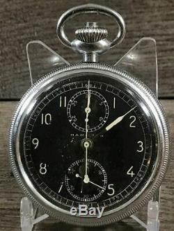 Hamilton Model 23 Chronograph Military Watch, 19J, 16S, Running, #P873