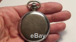 Hamilton Model 23 Military Chronograph Pocket Watch WWII Era 1942 Runs Great