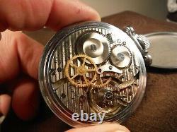 Hamilton Model 4992B Hacking Military Pocket watch AN-5740 22 Jewels running