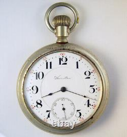 Hamilton Official Standard 17j 16s Rare Marking Railroad Pocket Watch