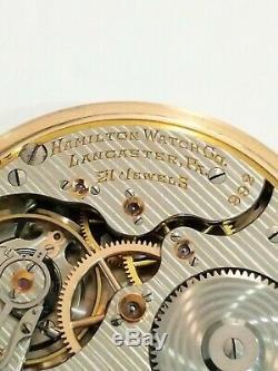 Hamilton Pocket Watch 16s 21 Jewels Double Roller 992 Adj 5 Pos Railroad Grade