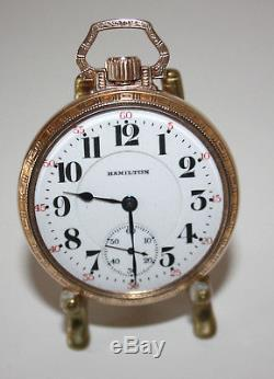 Hamilton Pocket Watch 21Jewel serviced ca 1931 model 992 Railroad type