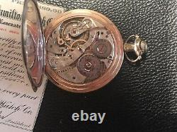 Hamilton Pocket Watch 23 Jewels 920, with Original Box And Papers Bridge Model GF