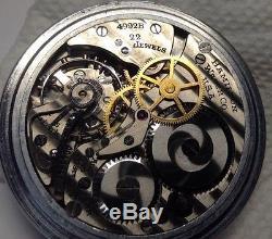 Hamilton Pocket Watch 4992-B 22J Montgomery Dial (w117)
