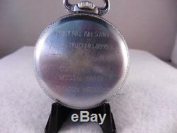 Hamilton Pocket Watch 4992b / An5740. U. S. Gov. Very Nice Condition