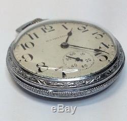 Hamilton Pocket Watch 950 23J 1906 Chrome Case (w112)