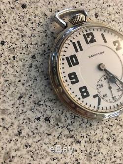 Hamilton Pocket Watch 992 Railroad Model 14 K Gold Filled 1919 21 Jewel