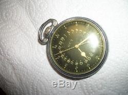 Hamilton Pocket Watch GCT 4992b 22 Jewel Navigation Master WWII Military AN 5740