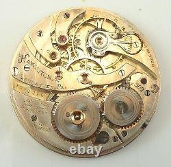 Hamilton Pocket Watch Movement Grade 902 Spare Parts / Repair