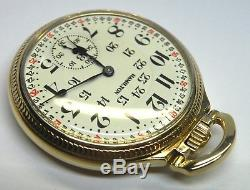 Hamilton Pocket Watch Railroad 992 Mod 2 16s 21j with Model 16 Case Vintage Runs