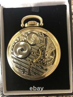 Hamilton Pocket Watch Railway Special Grade 992B Housed in a Hamilton 10K Yellow