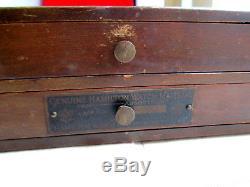 Hamilton Pocket & Watch Watchmaker Parts Cabinet 992 B Jewels Balance Staffs