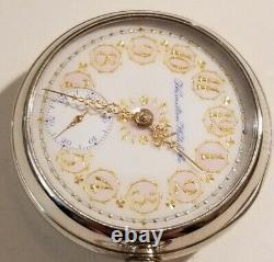 Hamilton RARE 18S. 21 jewels adj. Grade 941 two-tone movement mint fancy dial