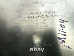 Hamilton REH 992 Railroad 21 Jewel Pocket Watch Working 102.2 grams 65.7 dwt