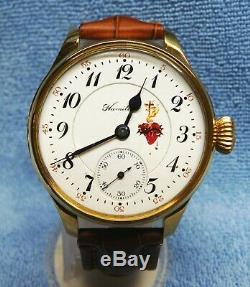 Hamilton RR Grade 973 Mod1 Pocket Watch, 16s 17j, Converted To Wrist Watch, Runs