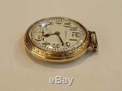 Hamilton Railroad Grade 992 21 Jewel 16 Size Pocket Watch 10k Gold filled-01226