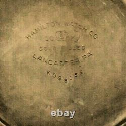 Hamilton Railroad Grade 992E Elinvar Pocket Watch 21j Ruby 16s 10K Gold Filled