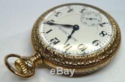 Hamilton Railroad Grd 940 Mod 1 Pocket Watch 18s 21j CWC Gold Fill Vintage Runs