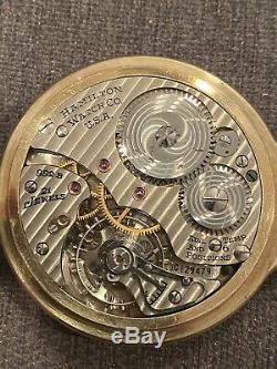 Hamilton Railway Special 10K Gold Filled Pocket Watch 992B 21 Jewels/Working A++