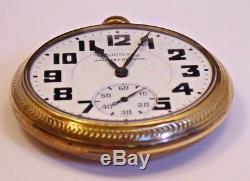 Hamilton Railway Special 992B Pocket Watch, 21J, Adj Temp & 6 Pos, Keeping Time