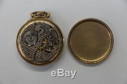 Hamilton Railway Special 992B Rail Road Pocket Watch 10k Gold Filled 21 Jewels