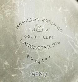 Hamilton Railway Special 992b 21j Railroad Rr Pocket Watch 10k Gold F Case