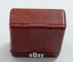 Hamilton Rare Raspberry Color Flip Top Box For 992b Or 950b Pocket Watch