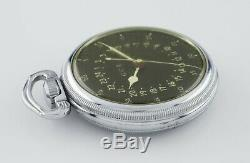 Hamilton Stainless Steel GCT WWii 4992B Pocket Watch