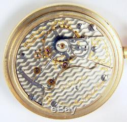 Hamilton Veritemps 21 Jewel 18s Grade 940 Rare Damaskeen Railroad Pocket Watch
