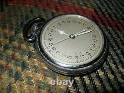 Hamilton Vintage Military 4992B Pocket-Watch, Rare White/Gold Numeral Dial L@@K