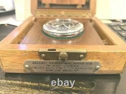 Hamilton Vintage WWII GCT Navigational Pocket 4992B Watch in the box