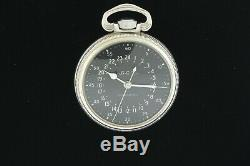 Hamilton WWII Military G. C. T. Sidereal. 800 Fine Silver Pocket Watch Grade 4992B