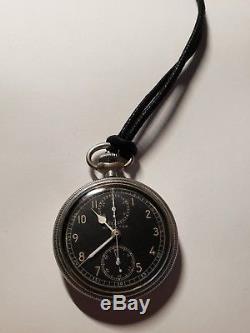 Hamilton WWII Military Pocket Watch Chronograph Model 23, 19 Jewels