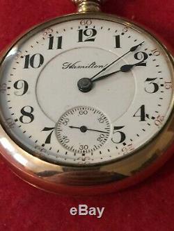 Hamilton Watch Co. 18 S. 23 J, 946, G. F. 20 Yr Case, Runs Excel
