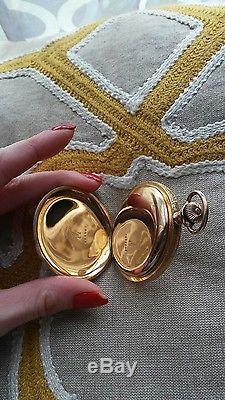 Hamilton Watch Co Vintage Antique Pocket Watch J BRASS 14K Gold 305380 17J