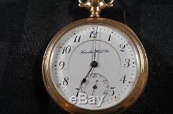Hamilton grade 962, 16 size pocket watch superb rare 2 star watch