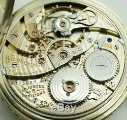 Hamilton masterpiece 23 j solid 18kt gold Cal. 922 l Ornate pocket watch