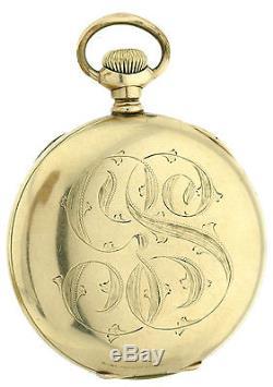 Hamilton offene Herren Taschenuhr in goldfarbenem Gehäuse mit selt. Kal. 926-936