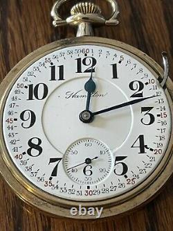 Hamilton pocket watch, 18S, 23J, 946in a B&B Royal G. F. CASE, running, beauty