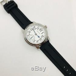 Heat Treated Blue Hamilton 992E 16S 21J Railroad Pocket Salesman Wrist Watch