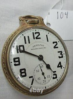 High Grade Antique 21 Jewel Hamilton 992b Railway Special Pocket Watch