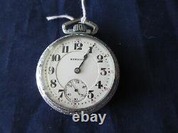 High Grade Antique Hamilton 992 21 Jewel Railroad Grade Pocket Watch