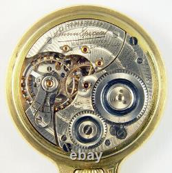 Illinois Bunn Special 161a 21j 60 Hour Rare Original Hamilton Cased Pocket Watch