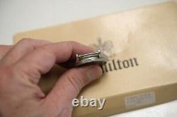 LL BEAN HAMILTON quartz Swiss 9445 2 bands pouch Roger Moore RARE FREE SHIPPING