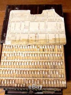 Lot Vintage ELGIN & HAMILTON Pocket Watch Parts in 8 Drawer Cabinet STEMS, HANDS