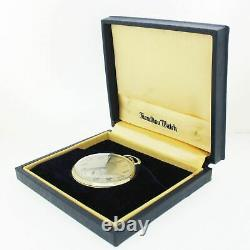 MINT Antique 14k Solid White Gold Hamilton 48801 912 Pocket Watch with Box