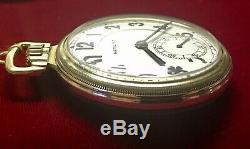 MUSEUM QUALITY Hamilton 16S 23J 950E ELINVAR Railroad Pocket Watch MAINLINER