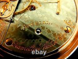 Mega Rare 14K Antique Railroad Crisp 21J 18s Hamilton 941 Special Pocket Watch
